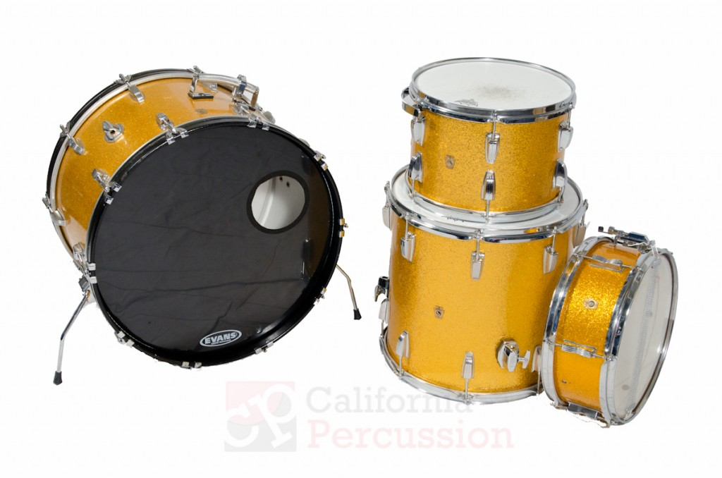 Drum Set Rental – Ludwig Vintage 1960s – Gold Sparkle